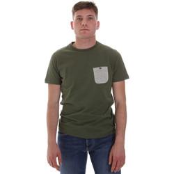 Textiel Heren T-shirts korte mouwen Sseinse ME1588SS Groen