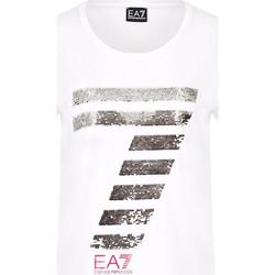 Textiel Dames T-shirts korte mouwen Ea7 Emporio Armani 3HTT41 TJ12Z Wit