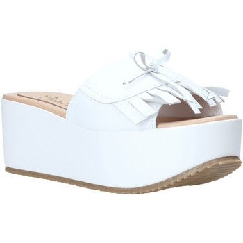 Schoenen Dames Leren slippers Grace Shoes C3 Wit