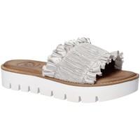 Schoenen Dames Leren slippers 18+ 5812 Grijs