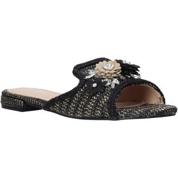 Schoenen Dames Leren slippers Gold&gold A20 GK35 Noir