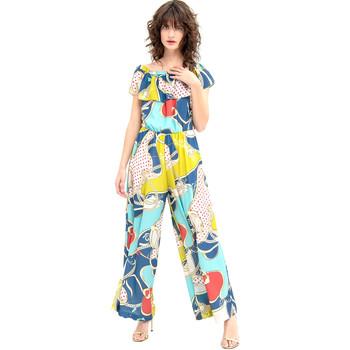 Textiel Dames Jumpsuites / Tuinbroeken Fracomina FR20SM032 Blauw