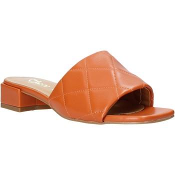Schoenen Dames Leren slippers Grace Shoes 971Y001 Oranje