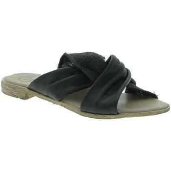 Schoenen Dames Leren slippers 18+ 6113 Zwart
