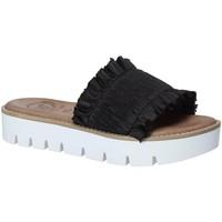Schoenen Dames Leren slippers 18+ 5812 Zwart
