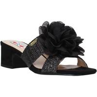 Schoenen Dames Leren slippers Love To Love EVA583C1 Zwart