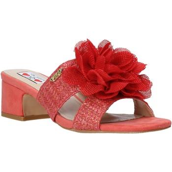 Schoenen Dames Leren slippers Love To Love EVA5106 Rood