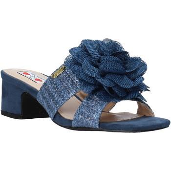 Schoenen Dames Leren slippers Love To Love EVA579 Blauw