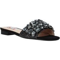Schoenen Dames Leren slippers Love To Love ALE 183 Zwart