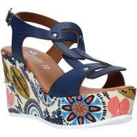 Schoenen Dames Sandalen / Open schoenen Grace Shoes 09 Blauw