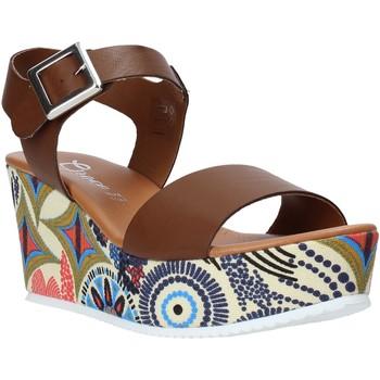 Schoenen Dames Sandalen / Open schoenen Grace Shoes 07 Bruin