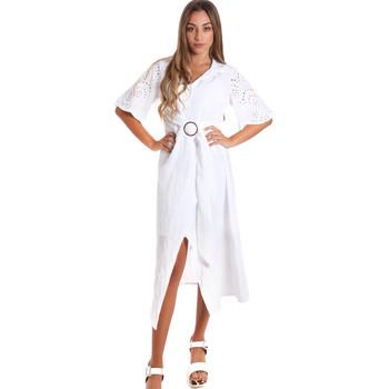 Textiel Dames Lange jurken Fracomina FR20SM561 Wit