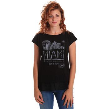 Textiel Dames T-shirts korte mouwen Key Up 5Z10S 0001 Zwart