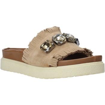 Schoenen Dames Leren slippers Bueno Shoes CM2217 Beige