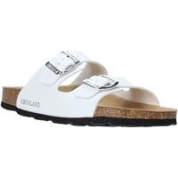 Schoenen Dames Leren slippers Grunland CB1035 Wit