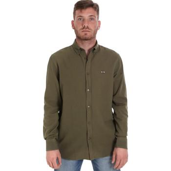 Textiel Heren Overhemden lange mouwen Les Copains 9U2371 Groen