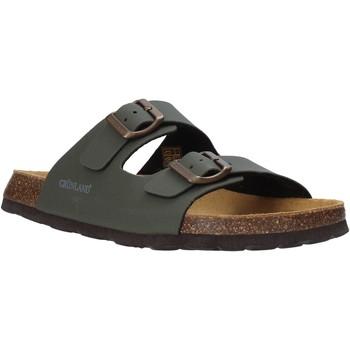 Schoenen Heren Leren slippers Grunland CB3012 Groen