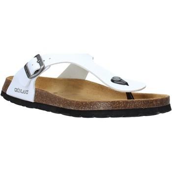 Schoenen Heren Slippers Grunland CB3014 Wit