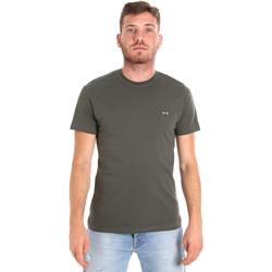 Textiel Heren T-shirts korte mouwen Les Copains 9U9011 Groen