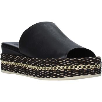 Schoenen Dames Leren slippers Bueno Shoes Q5905 Zwart