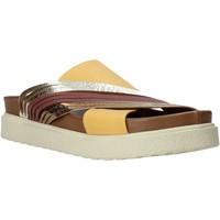 Schoenen Dames Leren slippers Bueno Shoes CM2206 Geel
