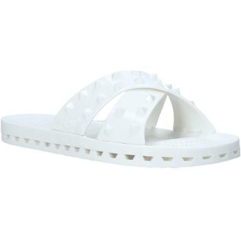 Schoenen Dames Leren slippers Sensi 4300/PY Wit
