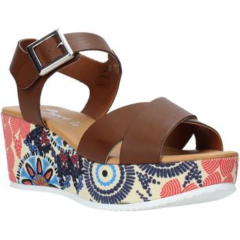 Schoenen Dames Sandalen / Open schoenen Grace Shoes 12 Bruin