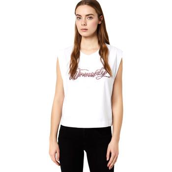 Textiel Dames T-shirts korte mouwen Liu Jo FA0113 J5940 Wit
