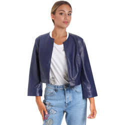 Textiel Dames Leren jas / kunstleren jas Fracomina FR20SM708 Blauw
