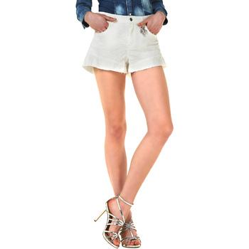 Textiel Dames Korte broeken / Bermuda's Liu Jo F18281T9411 Blanc