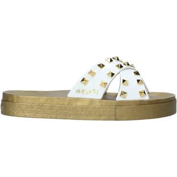Schoenen Dames Leren slippers Sensi 4390/PY Wit
