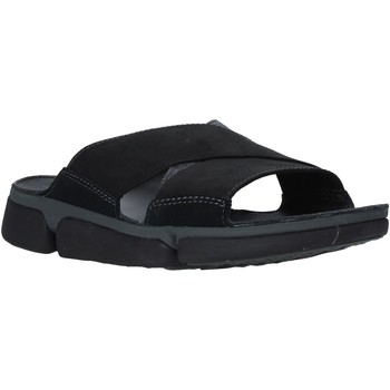 Schoenen Heren Leren slippers Clarks 26139563 Zwart