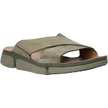 Schoenen Heren Leren slippers Clarks 26139561 Groen