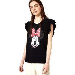 Textiel Dames T-shirts korte mouwen Liu Jo FA0408 J5904 Noir