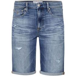 Textiel Heren Korte broeken / Bermuda's Calvin Klein Jeans J30J315356 Blauw