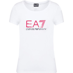 Textiel Dames T-shirts korte mouwen Ea7 Emporio Armani 8NTT63 TJ12Z Wit