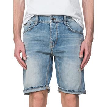 Textiel Heren Korte broeken / Bermuda's Antony Morato MMDS00068 FA700115 Blauw