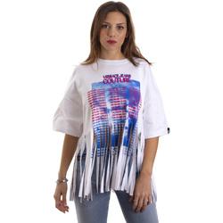 Textiel Dames T-shirts korte mouwen Versace B2HVB7V730384003 Wit
