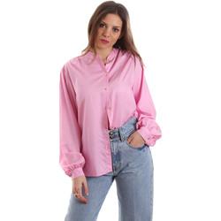 Textiel Dames Overhemden Versace B0HVB62307619445 Roze