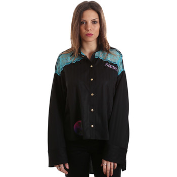 Textiel Dames Overhemden Versace B0HVB60310623899 Zwart