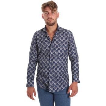 Textiel Heren Overhemden lange mouwen Betwoin DB111 Blauw