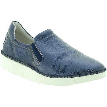 Schoenen Dames Instappers Mally 5711 Blauw