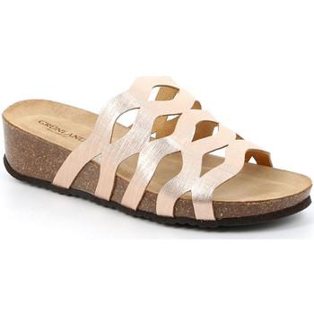 Schoenen Dames Leren slippers Grunland CB2490 Beige