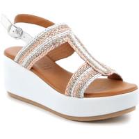 Schoenen Dames Sandalen / Open schoenen Grunland SA2489 Zilver