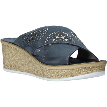 Schoenen Dames Leren slippers Grunland CI1771 Blauw
