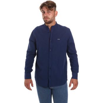 Textiel Heren Overhemden lange mouwen Les Copains 9U2722 Blauw