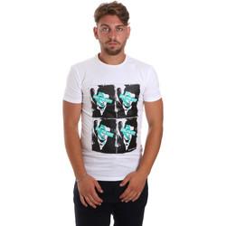 Textiel Heren T-shirts korte mouwen Antony Morato MMKS01743 FA120001 Wit