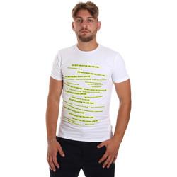 Textiel Heren T-shirts korte mouwen Antony Morato MMKS01749 FA120001 Wit