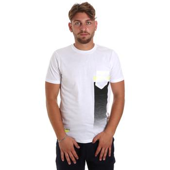 Textiel Heren T-shirts korte mouwen Antony Morato MMKS01794 FA100189 Wit