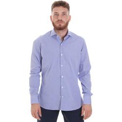 Textiel Heren Overhemden lange mouwen Les Copains 20P.621 P3196SL Blauw